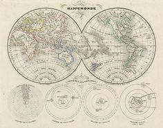 World in Hemispheres, 1835