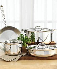 59c90f346f9 all clad copper core 7 piece cookware set All Clad Copper Core 7 Piece  Cookware Set