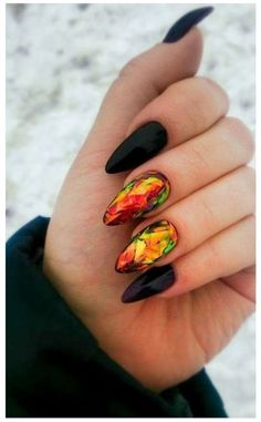 The perfect autumn nails!!                                                                                                                                                                                   More