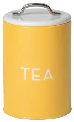 Amazon.com: Now Designs Tea Tin, Yellow: Kitchen & Dining