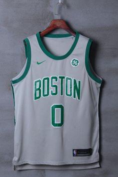 d384e27246a Men 0 Jayson Tatum Jersey Black Boston Celtics Jersey Fanatics Swingman
