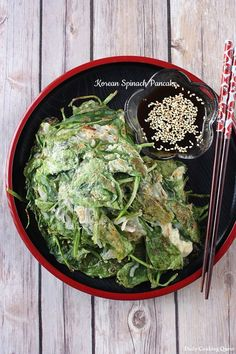 In life, often times, simple is best. This philosophy extends to cooking as well, just like this spinach pancakes. You will only need spinach, all purpose… Easy Korean Recipes, Healthy Asian Recipes, Gourmet Recipes, Vegetarian Recipes, Spinach Pancakes, Spinach Recipes, Middle Eastern Recipes, Indonesian Food, Korean Food