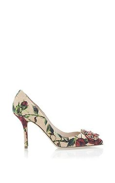 Decollete Broccato Rose Printed Embellished Pump 1bfaf746de98