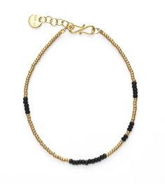 Anni Lu asymmetrisk sort armbånd