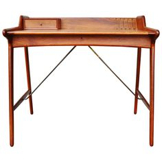 Stunning Minimalist Svend Madsen Danish Modern Teak Desk   1stdibs.com