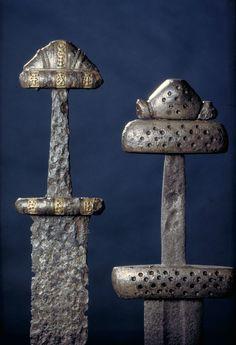 Viking swords from Steinsvik, Nordland and Kosgaarden, Hedmark, Norway.