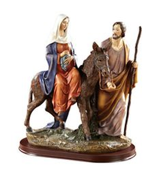 "The Pilgrims Journey Figure Mary and Joseph Bethlehem 12"" tall"