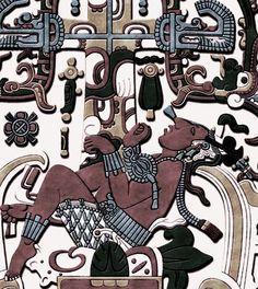 mayan tablet - talla hecha sobre el sarcófago del rey pakal en palenque
