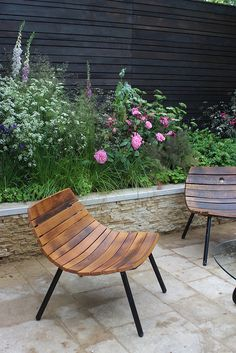 The finished Cloudy Bay Sensory Garden at Chelsea 2014 that I helped to plant, designed by Andrew Wilson and Gavin McWilliam. Outdoor Spaces, Outdoor Chairs, Outdoor Living, Outdoor Decor, Outdoor Lounge, Outdoor Seating, Fence Design, Garden Design, Sensory Garden