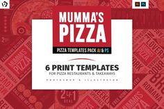 Paquete de plantillas de menú de pizza - Folletos
