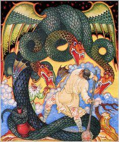 Ivan and tsarevna. Russian folk tale.   Illustrator Valentin Pavlovich Fokeev, 1998    http://book-graphics.blogspot.ru/2011/12/ivan-and-tsarevna.html#more