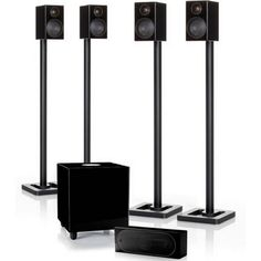 Available in all five of the luxurious RadiusHD finishes; the Monitor Audio R90HD10 is a suggested surround sound system comprising of four diminutive R90HD satellites, the Monitor Audio R180HD as a centre channel speaker and the R370HD subwoofer (stands sold separately