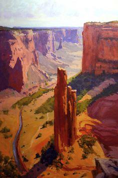 """Spider Rock by Rusty Jones Oil ~ 36"""" x 24"""""""