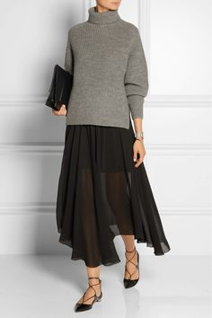 Étoile Isabel Marant Laney Ribbed Wool and Alpaca-Blend Turtleneck Sweater