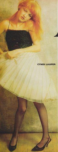 August 1985 | Vogue: Heavy Petal: Women In Rock, Cyndi Lauper    She's still so BA