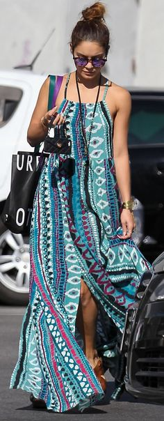 Vanessa Hudgens Printed Maxi dress