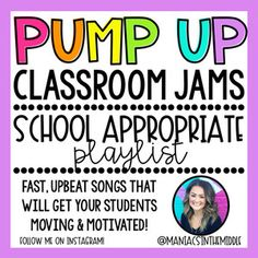 These songs are upbeat & fast paced! They are sure to get your students up and moving, dancing, & motivated! Classroom Playlist, Music Classroom, Elementary Music, Elementary Schools, Morning Announcements, Upbeat Songs, Motivational Songs, Morning Songs, School Songs