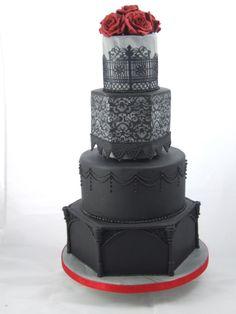Gothic Wedding Cake - Cake by Christine Ticehurst