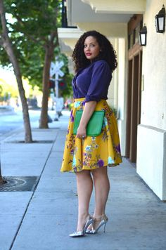 modcloth:  I've always been a huge fun of yellow paired with...