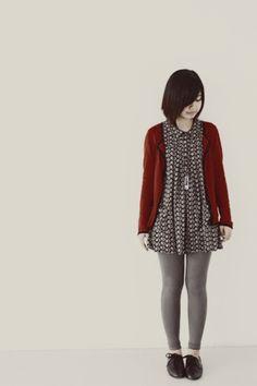 leggings and dress