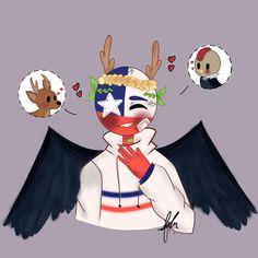 Kou Diabolik Lovers, Country Art, Chile, Kawaii, America, Memes, Tumblr Drawings, Drawings Of Girls, Character Art