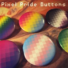 Pixel Pride Flag Buttons Choose any LGBTQ flag