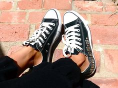 LowTop Black Studded Converse by AnneandJeremy on Etsy, $150.00