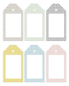 Tile pattern gift tags. Free download
