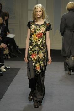 Fall '11 Paul Smith embroidered black silk dress.