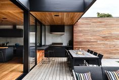 Gallery of DS House / Planned Living Architects - 3 - House Architecture Outdoor Kitchen Design, Patio Design, Indoor Outdoor Kitchen, Terrace Design, Outdoor Kitchens, Outdoor Cooking, Beach House Decor, Home Decor, Modern House Design
