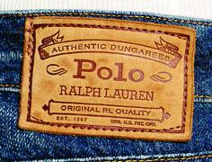 etiqueta de cintura Polo Ralph Lauren.
