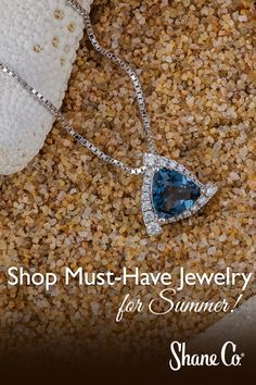 Ready for summer? This pendant is perfect for making a statement in the sand. #ShaneCo #ShaneCochic