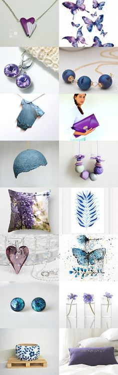 Hearts and Butterflies! by Linda Karen on Etsy--Pinned with TreasuryPin.com