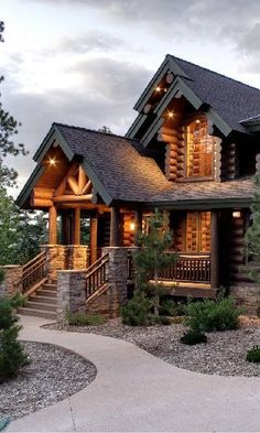 My main dream home. I have wanted a log home for as long as I can remember…