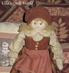 free quilted doll pattern and tutorial