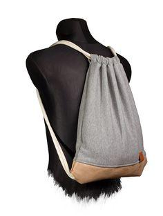 Vagabond Wood Sports Bag - Jersey(Sweat) / Alcantara Rucksack, Gym Bag, Turnbeutel, Sportbeutel, Beutel, Tasche, Manufaktur13 M13: Amazon.de: Sport & Freizeit