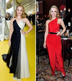 Rachel McAdams modeled two stunning dresses at the 2014 Canada's Walk of Fame Awards.