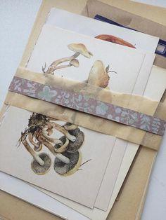 Nature Ephemera Pack 4 junk journaling kit autumnal collage
