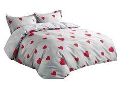 Bavlnené posteľné obliečky s červenými srdiečkami Comforters, Blanket, Bed, Home, Products, Creature Comforts, Quilts, Stream Bed, Ad Home