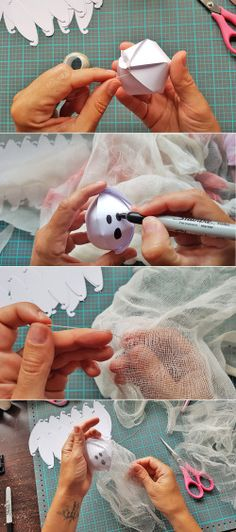 Halloween Ghosts with the DIY Party Globe Punch by Chantalle McDaniel for We R Memory Keepers Balloons And More, We R Memory Keepers, Halloween Ghosts, Diy Party, Trick Or Treat, Punch, Globe, Paper Crafts, Crafty