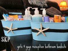 Bathroom Baskets For Wedding Receptions | Wedding Ideas / Reception Bathroom Baskets