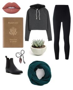 """Airport"" by celeste-05 on Polyvore featuring H&M, Lime Crime, Royce Leather, Jeffrey Campbell, adidas Originals and BP."