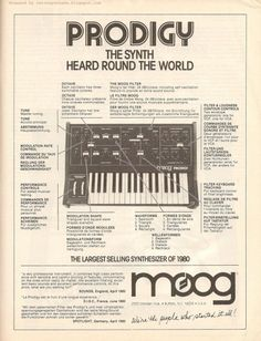 The synth heard around the world. Moog Prodigy, Vintage Synth, Vintage Keys, Moog Synthesizer, Electronic Music Instruments, Analog Synth, My Own Private Idaho, Recording Equipment, Drum Machine