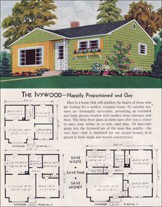 1950s ranch plans - Google Search | Bungalow | Pinterest | Vintage ...