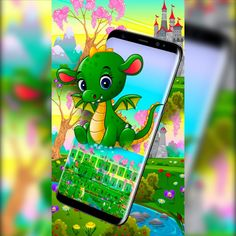 Check out our new #phonetheme, the #Cute #Baby #Dragon #Castle Keyboard Theme 2018. This theme will befriend you with a cute baby dragon, bravely defending its castle, just like a #fairytale . The Cute Baby Dragon Castle Keyboard is a #beautifuldesign that has plentiful #colors and #rivers . Your keys blend in perfectly in the landscape, surrounded with green, you won't even notice that they're from a #DifferentEra.