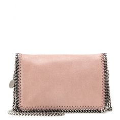 Stella McCartney - Falabella Shaggy Deer shoulder bag - Polish off every look with Stella McCartney's rose blush faux-leather 'Falabella' shoulder bag. The signature gunmetal-toned chain trims add the label's inimitable chicness. seen @ www.mytheresa.com