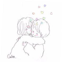 画像に含まれている可能性があるもの:スケッチ Cute Couple Drawings, Love Drawings, Art Drawings, Manga Drawing, Manga Art, Character Art, Character Design, Pies Art, Dibujos Cute