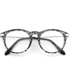 819c4e9794c 201588 Fashion Horn Rimmed Keyhole Metal Temple Clear Lens Glasses - Black  Spot - CK17Z3DQXYT
