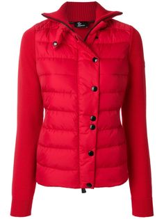 Buttoned Padded Jacket, Red