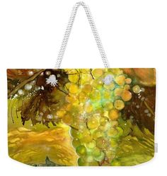 Chardonnay Grapes in sunlight Weekender Tote Bag by Sabina Von Arx Weekender Tote, Tote Bag, Yellow Bathroom Decor, Autumn Lights, Green Grapes, Warm Autumn, Basic Colors, Beautiful Paintings, Bag Sale